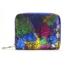 Retro Colorful Personality Small Short Wallet Fashion Zipper Women Coin Bag