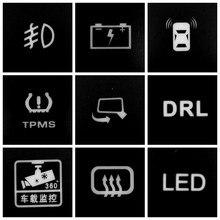 Para suzuki jimny 2019 led luz de nevoeiro radar fio sensor estacionamento câmera gravador monitor ventilador bagageira tronco botão interruptor música