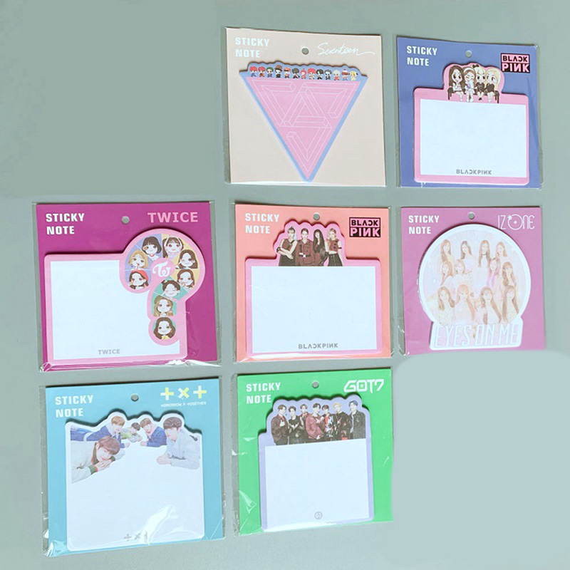 Kpop Blackpink IZONE Cute Mini Sticky Note TXT GOT7 Bookmark Index Seventeen Stationery Memo Pad Stickers
