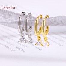 CANNER-Pendientes de plata de ley 925 con corazones y flechas, joyería fina con corazones y flechas, para mujeres