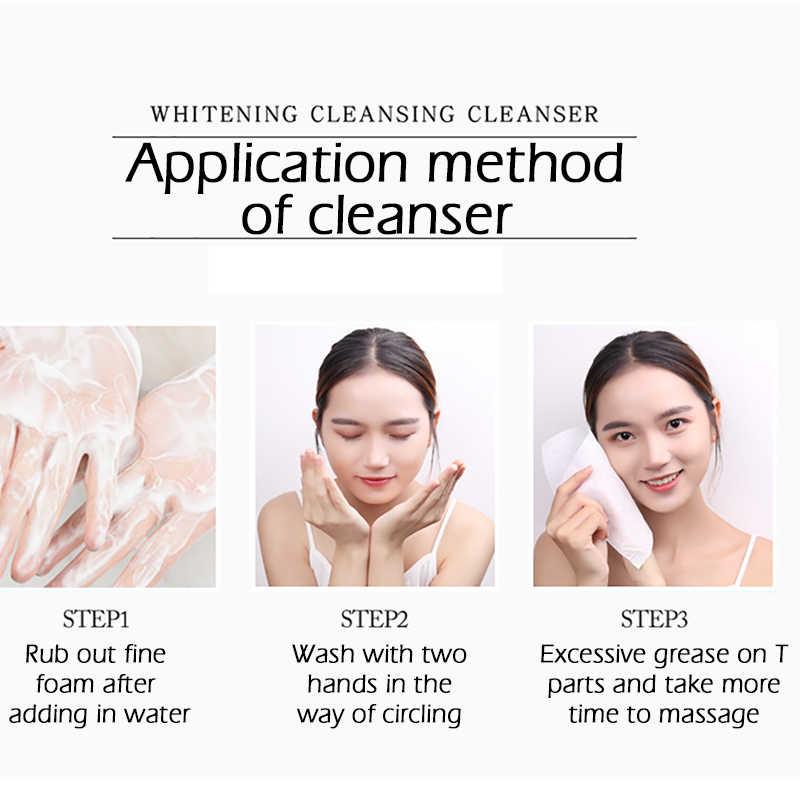 Novo ácido de nicotinamida limpador facial, amino para limpeza facial, hidratante para o brilho, controle de óleo, nutritivo, cuidados com a pele