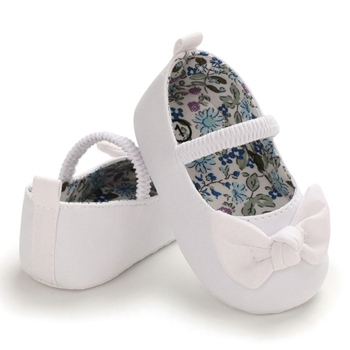 Newborn Baby Girls Shoes Toddler Soft Solid Color Comfortable Bottom Non-slip Bow