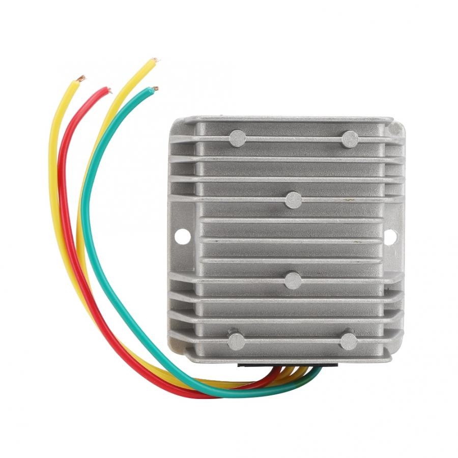 Regulador de potencia cc a prueba de golpes a prueba de polvo impermeable 8 ~ 40V a 12V para rectificador de coche estabilizador de voltaje de ahorro de combustible