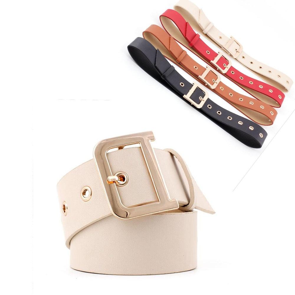 2018 New Wide Black Red Tan Grommet   Belt   Female Ladies D Ring Waistband Corset   Belts   Girdles for Women Dress Coat ceinture femme