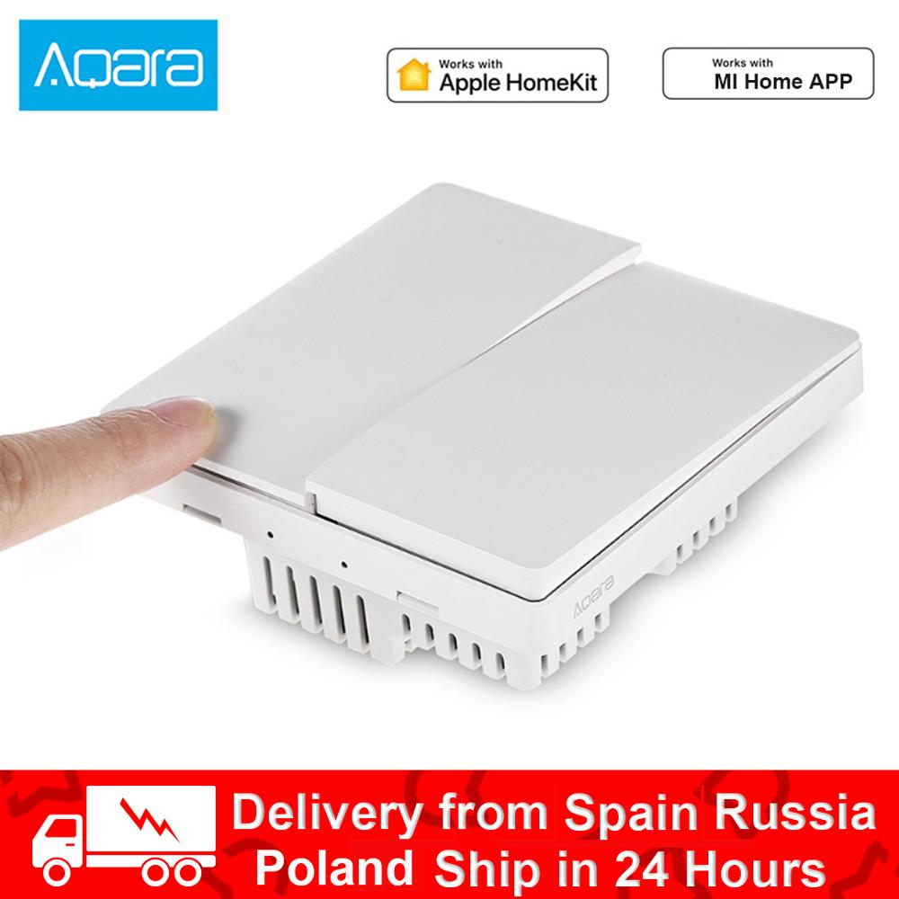 Aqara Mijia Smart Home Light Control Single Fire Wire ZigBee Wireless Key Wall Switch For Xiaomi Smart Home Kits App