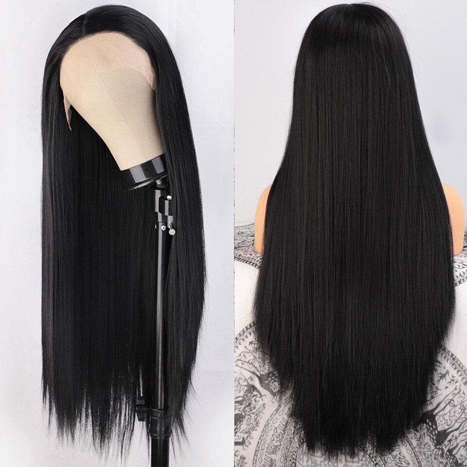 laço perucas pretas do laço para as