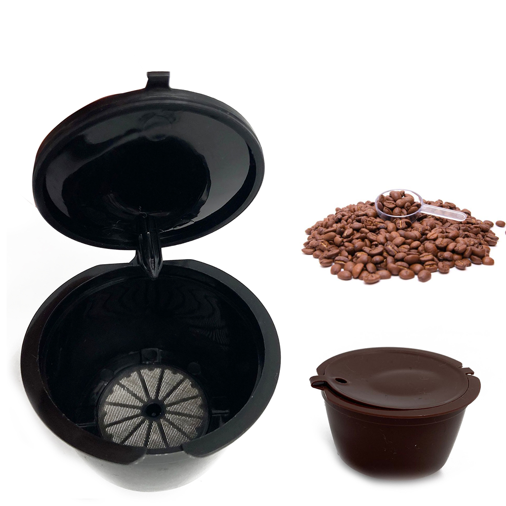 3 Pcs Cafe Reusable Coffee Capsule For All Nescafe Dolce Gusto Models Refillable Filters Baskets Pod Soft Taste Sweet