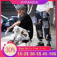 Streetwear Joggers Men Hip Hop Ankle Length Trousers Men Spring Autumn Casual Printing Sweatpants Mens Harem Pants