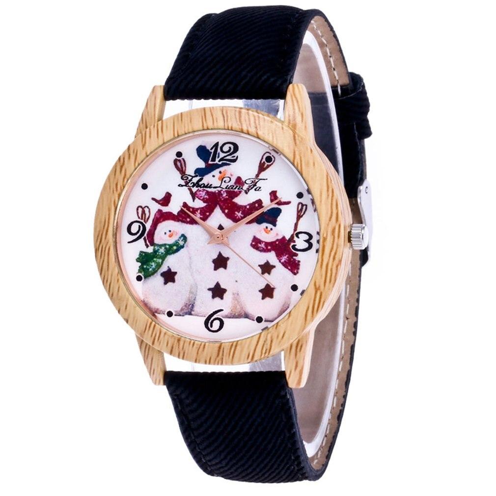 Women Watch Fashion Men Watch Top Brand Lady's Wooden Side Cowboy Belt Quartz Watch Business Lady Watch Christmas Gift Clock