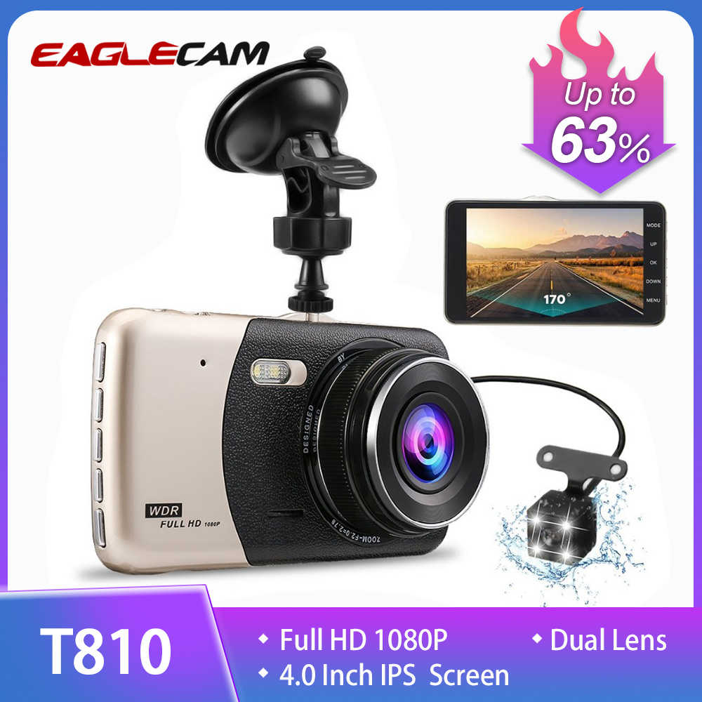 Baru 4.0 Inci IPS Layar Mobil DVR Mobil Kamera T810 Oncam Dash Camera Full HD 1080P Video 170 Derajat dash Cam