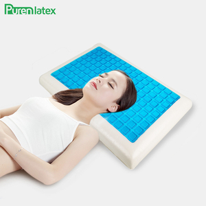 Image 5 - PurenLatex Silicone Gel Pillows Memory Foam Pillow Summer Ice Cooling Neck Ice Cool Cervical Vertebra Orthopedic Healing Cushion