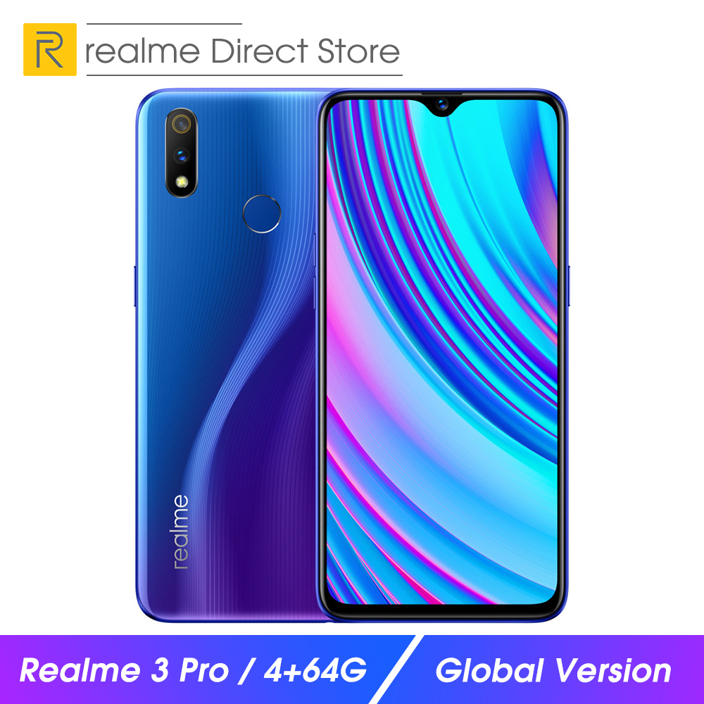 """Global Version OPPO realme 3 pro 4GB RAM 64GB ROM smartphone 6.3"""" Smart Moblie Phone 4045mAh Dual Camera VOOC Fast Charge 3.0"""