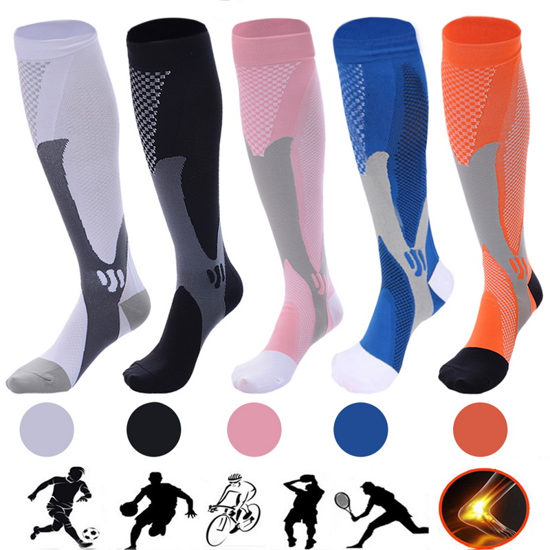 42 Styles Large Size Compression Socks For Varicose Veins Women Men Medical Varicose Veins Leg Relief Pain Knee High Stockings