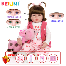 KEIUMI Hot Sale Reborn Baby Doll Toy Cloth Body Stuffed Realistic Baby Doll With Giraffe Toddler Birthday Christmas Gifts
