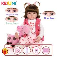 Keiumi Hot Koop Reborn Baby Pop Speelgoed Doek Lichaam Gevulde Realistische Baby Pop Met Giraffe Peuter Verjaardag Kerstcadeaus