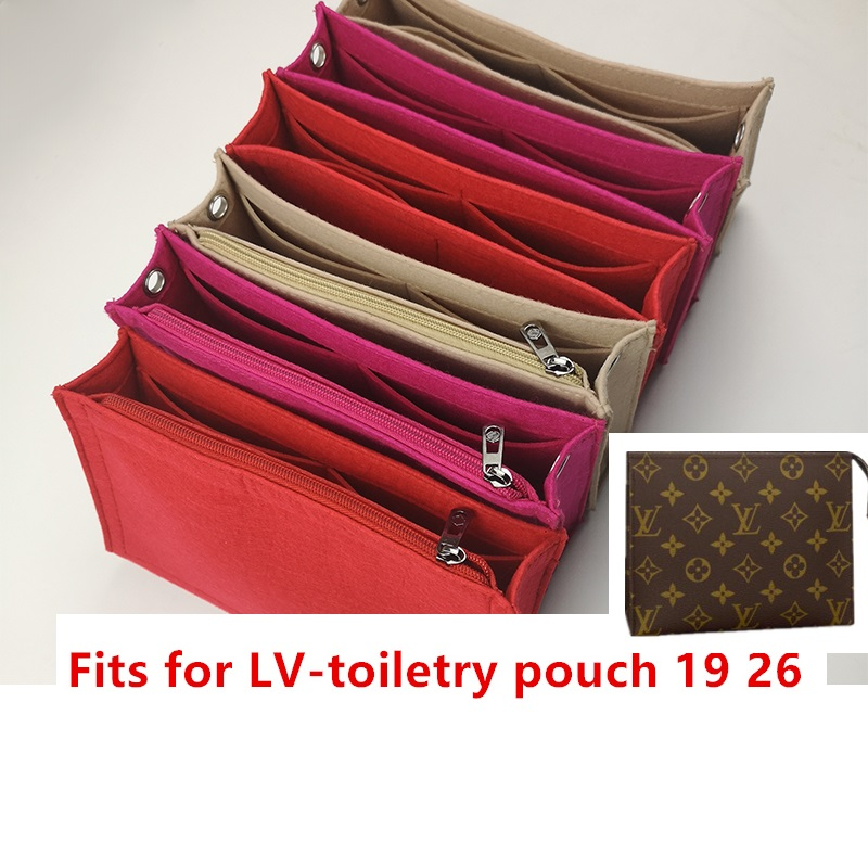 For Toiletry Pouch 19 26 Bag Purse Insert Organizer Makeup Handbag Travel Organizer Inner Purse Cosmetic Bag Toiletry Bag