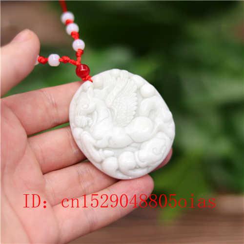 Putih Alami Cina Jade Tianma Kuda Liontin Kalung Pesona Perhiasan Ukiran Jimat Fashion Aksesoris Hadiah untuk Wanita Pria