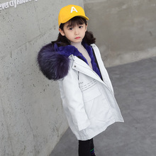 Rabbit Fur Coat Kids Girls Natural Jackets for Boys Fox Hooded Real Winter with
