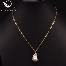Ожерелье xlentag из натурального пресноводного жемчуга в стиле