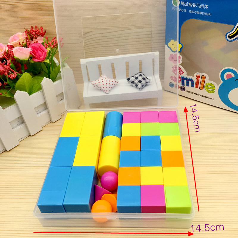Young STUDENT'S Geometry Set Stereo Model Mathematics Teaching Aids Cube Rectangular Cylinder Cube