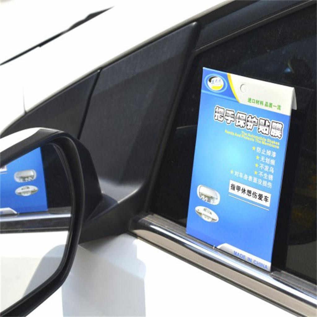 Hot Multifunzione 10pcs Invisibile Auto Porta Maniglia Film di Protezione Scratch Protector Trasparente Auto Moto Dispositivi