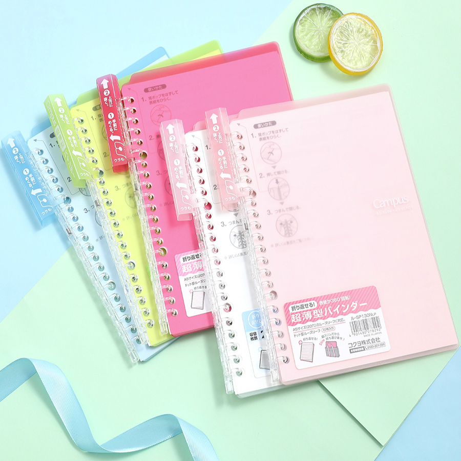 1 Pc KOKUYO Campus Smartring Loose Leaf Notebook Thin Portable Smart Ring Binder Note SP700 A5 B5 Easy To Replace
