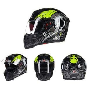 Image 2 - GXT Motorcycle Helmet Full Face Casco Moto Double Visor Racing Motocross Helmet Casco Modular Moto Helmet Motorbike Capacete #