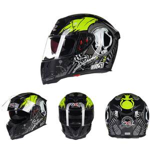 Image 2 - GXT خوذة الدراجات النارية تغطي كامل الوجه كاسكو موتو مزدوجة الوجة خوذة سباقات الدراجات النارية كاسكو وحدات خوذة الدراجات النارية #