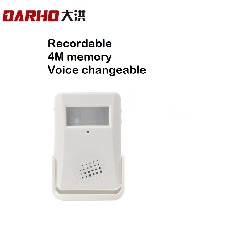 Darho Wireless Motion Sensor Door Bell Automatic Can Change Voice Welcome PIR Detector Alarm For Shop Store Visitor Greeting
