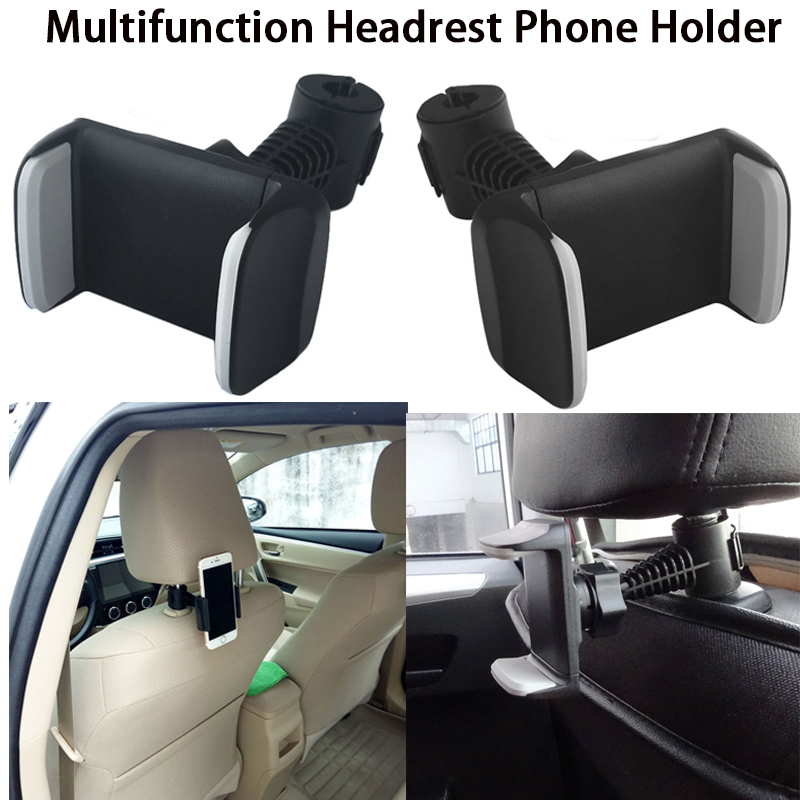 Car Headrest Phone Holder Mounting Bracket For Phone With Headrest Car Rear Seat With 360 Degree Swivel Angle For Smartphone