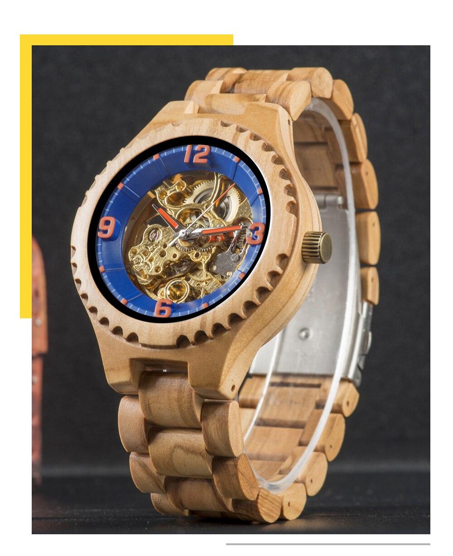 BOBO BIRD Men Luxury Wood Watches W-S29