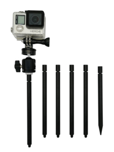 Trail Camera Stake Mount | Ground Spike Stick Mount | Adjustable Tilt 1/4-20 Ball Head | Fits Scouting Hunt Cameras Gopro Cam(China)