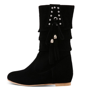 Image 4 - Morazora 2020 Hàng Mới Về Nữ Mắt Cá Chân Giày Đàn Đinh Tán Tua Rua Thu Đông Giày Bằng Giản Nữ Big Size 33 52