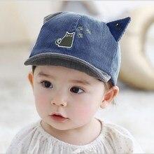 Cute Baby Boy Girl Autumn Winter Home Outdoor Hat Cotton Soft Warm Kid Hat Unisex Lovely Cat Print Kid Hat стоимость