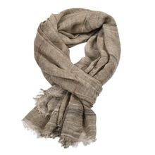 2019 New Casual Men's Scarves Winter Solid Fringe Muffer Cotton Linen Muslim Hijabs Plain Color Scarves Shawl Stole 190x90cm