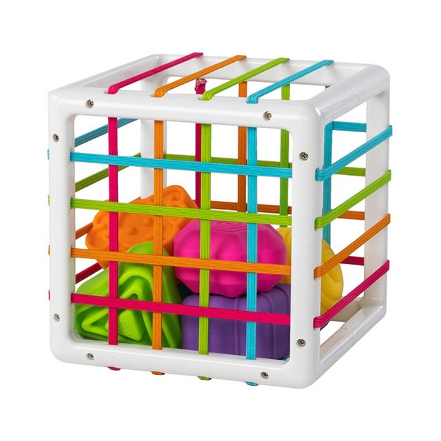 Fat Brain Toys InnyBin Shape Sorting Game Baby Montessori Learning Educational Toys For Children Bebe Birth Inny 0 12 Months 2