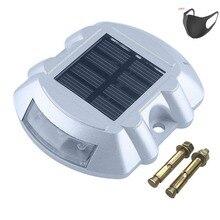 Solar LED die-cast aluminum waterproof stud lane light, solar deck light for outdoor waterproof platform for lake boat warning