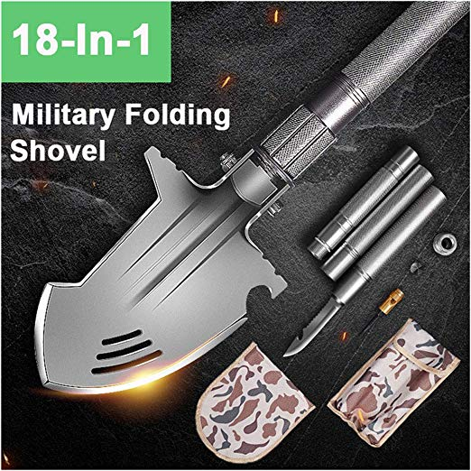 Multifunctional Outdoor Engineering Shovel Military Shovel Folding Suit Camping Survival Tool High-carbon Steel Shovel Tool Sets