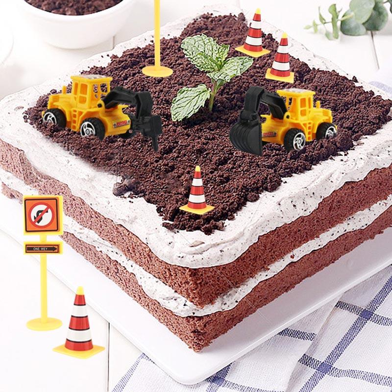 Remarkable Hot 11Pcs Set Engineering Car Cake Decorations For Kids Boy Birthday Cards Printable Giouspongecafe Filternl