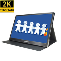 New 13.3 Inch 2K HDMI CNC Portable Display FHD 2560X1440 IPS Screen PS4 Xbo X360 LCD LED 15.6 Monitor for Wins 7 8 10 Switch