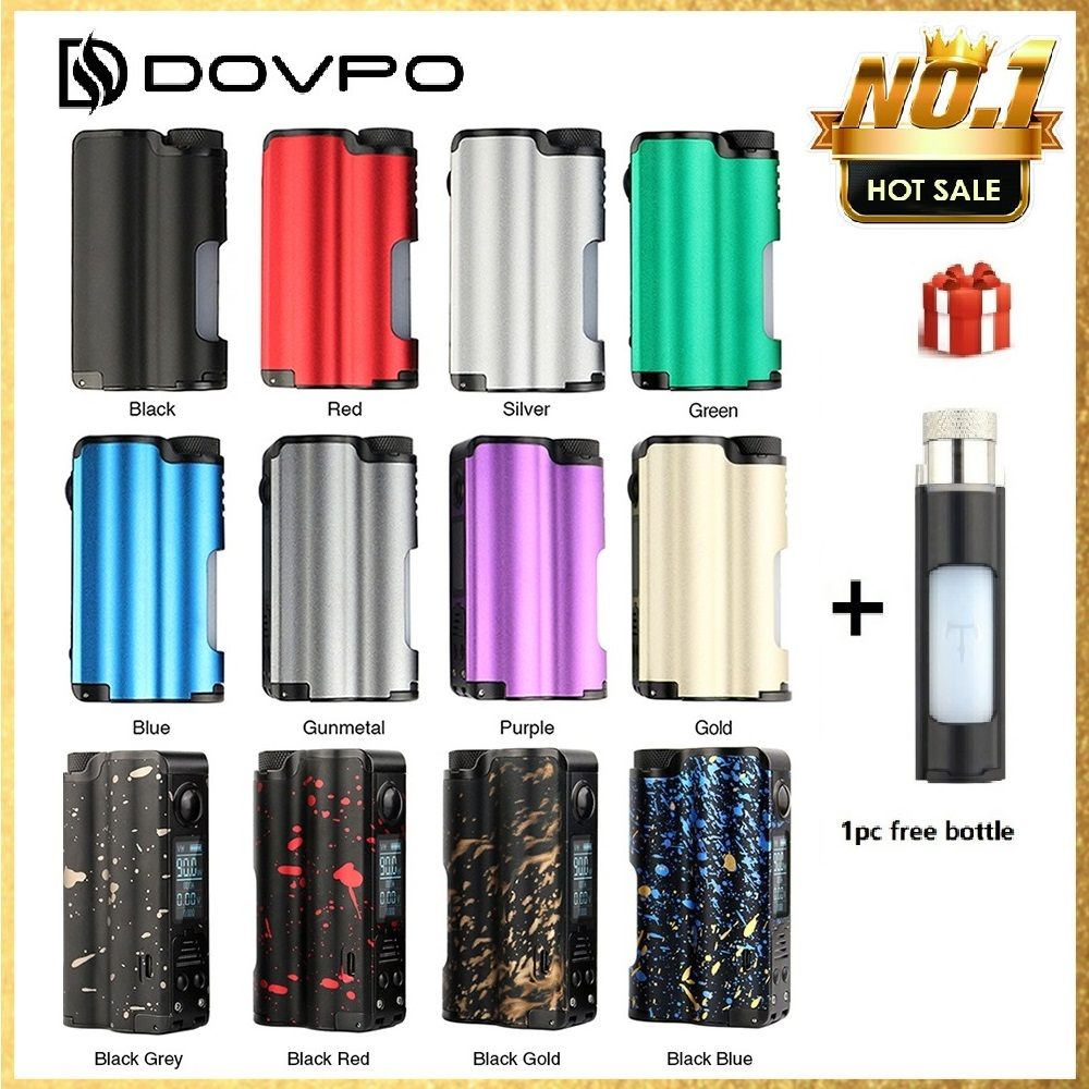 Ecig DOVPO Topside 90W Top Fill TC Squonk MOD with 10ml Large Squonk Bottle & 0.96 Inch OLED Screen VS Luxotic BF/ Luxotic DF
