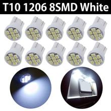 цена на atmosphere instrument lights Car LED lighting LED Bulb Side Wedge Light Bulb Indoor 12V 10PCS X T10 8SMD 1206