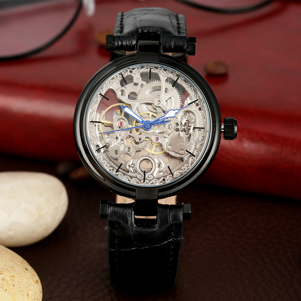 Automatic Mechanical Watch for Men Special Hollow-out Dial Mechanic Watch Practical Luminous Function Automatic-self-winding