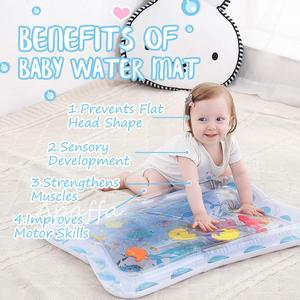 Image 4 - Baby Kids Water Play Mat Toys Inflatable Thicken PVC Infant Tummy Time Playmat Toddler Activity Play Center Water Mat for Babies