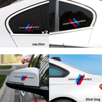 2pcs/lot M Performance car sticker for BMW E36 E46 E60 E90 F10 F20 F30 M1 M2 M3 M4 M5 M6 X1 X3 X5 X6 GT Z4 image