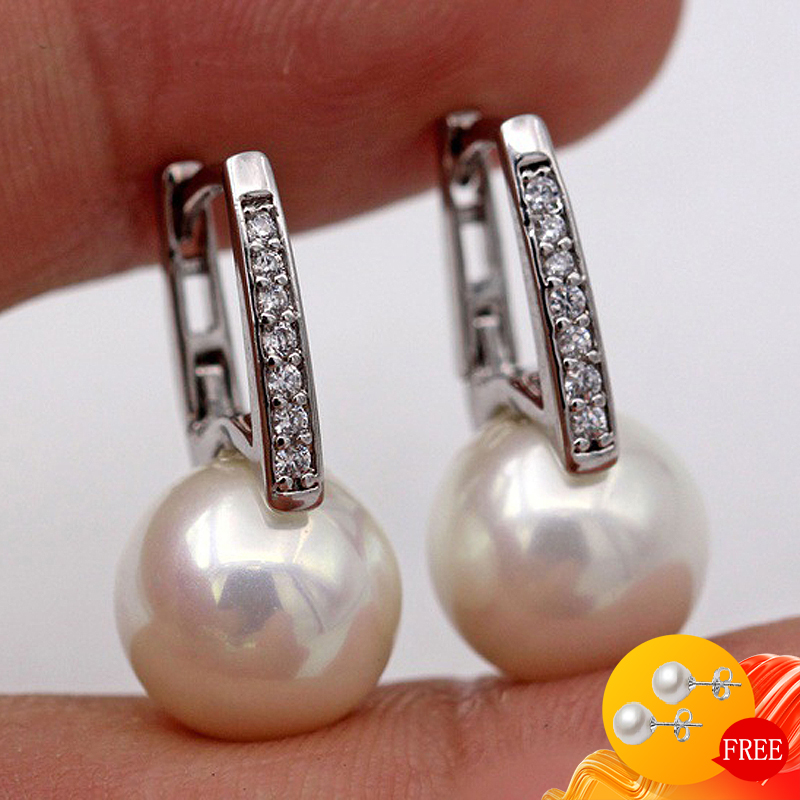 Fashion Pearl Earrings 925 Silver Jewelry Accessories for Women Wedding Engagement Promise Party Gift Drop Earrings Wholesale