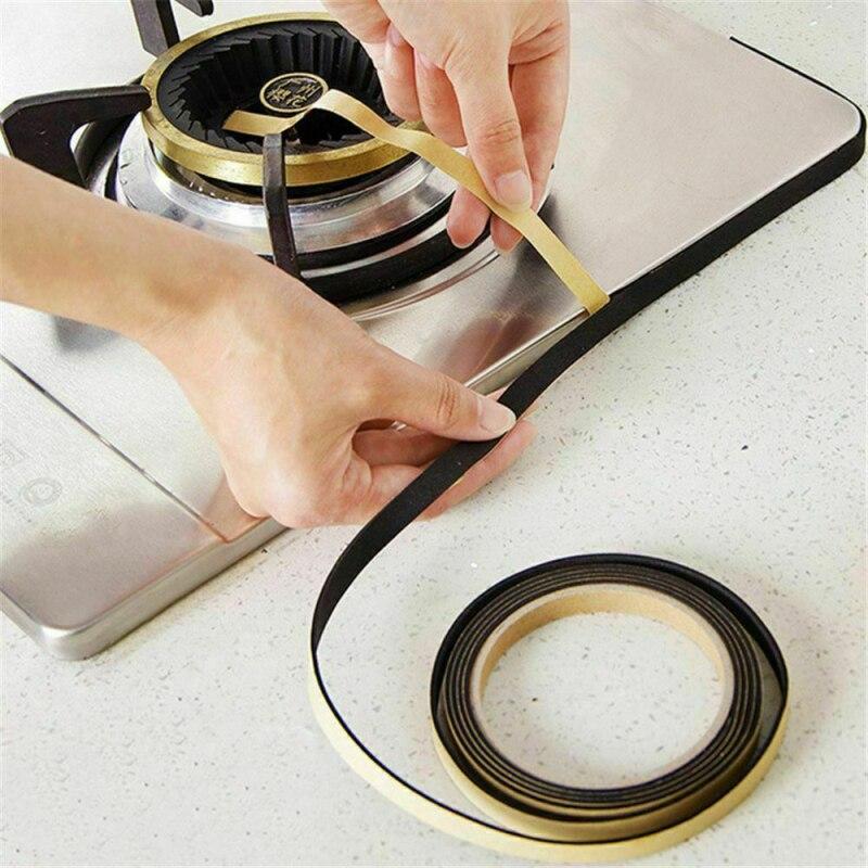 2m Kitchen Gas Stove Slit Tape Antifouling Waterproof Anti-mold Strip Kitchen Self-adhesive Door Window Sink Sealing Strip