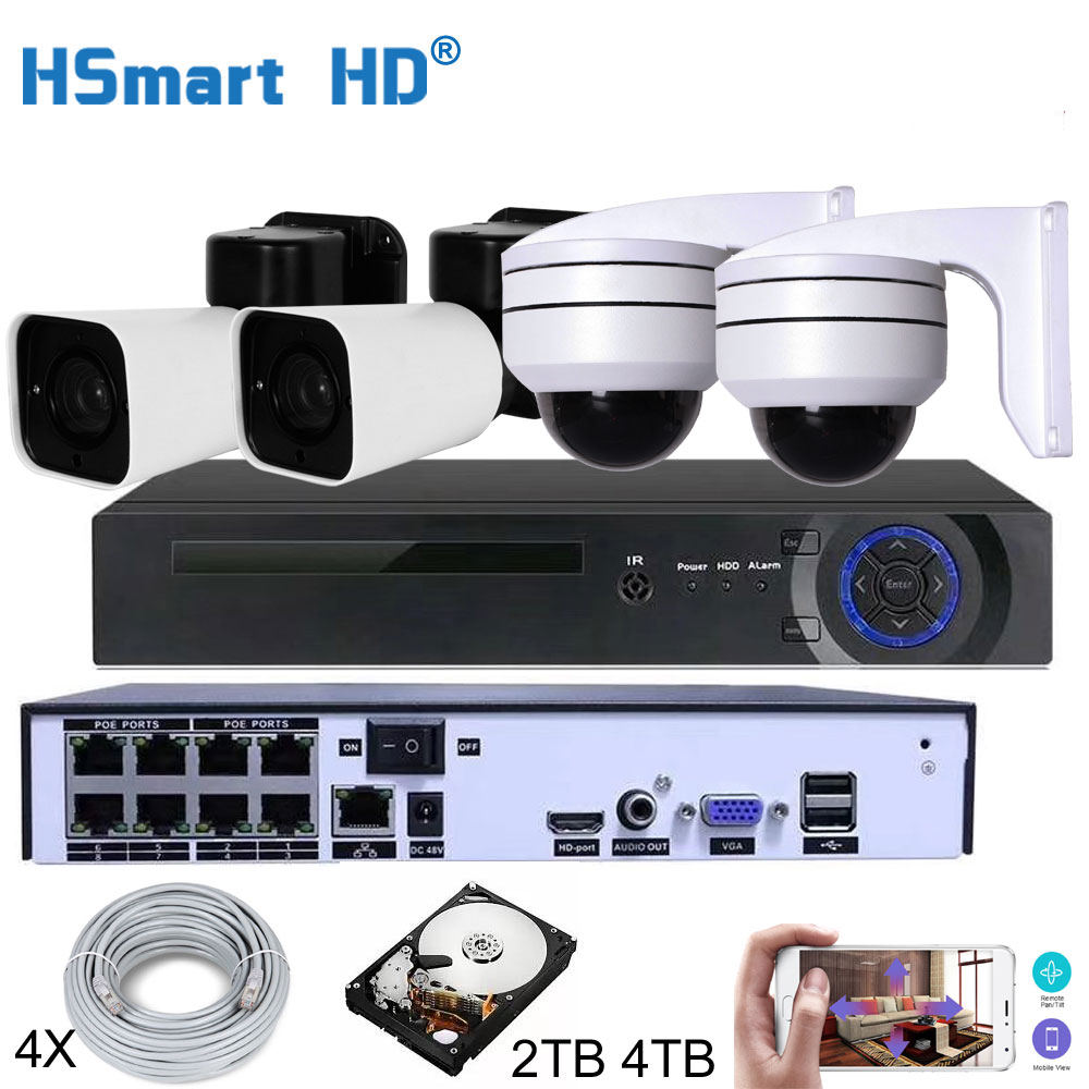 8CH HD NVR 4TB H.265 PTZ 5.0MP POE 4X Zoom CCTV System IP Camera Outdoor Video Security Surveillance Set Outdoor Waterproof image