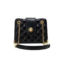 New Lingge Chain Small Square Bag Simple Fashion Crossbody Women Shoulder
