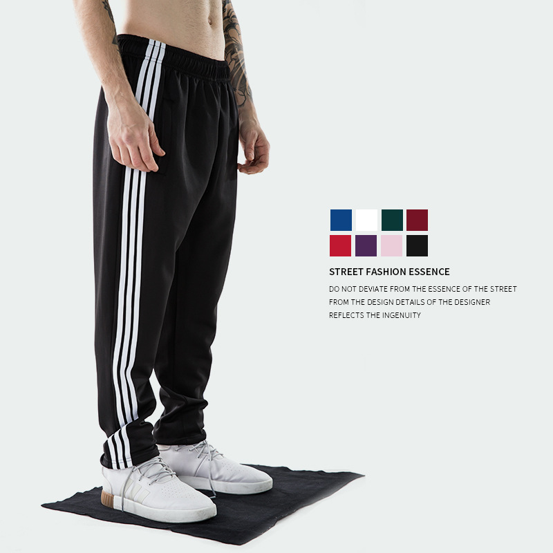 2018 Europe And America Popular Brand Spring And Autumn New Style Men'S Wear Classic Three Bars Retro Sports MEN'S Casual Pants